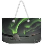 Aurora Borealis Over An Igloo On Walsh Weekender Tote Bag
