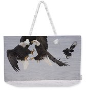 Bald Eagle Haliaeetus Leucocephalus Weekender Tote Bag