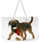 Border Terrier Puppy Weekender Tote Bag