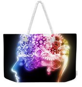 Brain Design By Cogs And Gears Weekender Tote Bag by Setsiri Silapasuwanchai