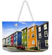Colorful Houses In St. John's Newfoundland Weekender Tote Bag