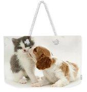 Dog And Cat Weekender Tote Bag by Jane Burton
