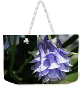Double Columbine Named Light Blue Weekender Tote Bag