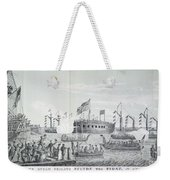 Fulton Steam Frigate, 1814 Weekender Tote Bag