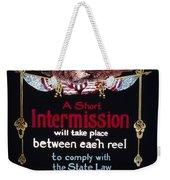 Intermission Slide Weekender Tote Bag