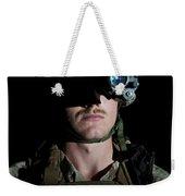 Portrait Of A U.s. Marine Wearing Night Weekender Tote Bag