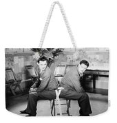 Silent Still: Two Men Weekender Tote Bag