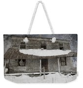 Snowy Abandoned Homestead Porch Weekender Tote Bag