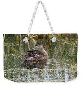 Teal Duck Weekender Tote Bag
