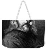 William Harvey, English Physician Weekender Tote Bag by Science Source