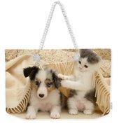 Kitten And Pup Weekender Tote Bag by Jane Burton