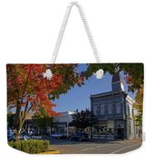 5th And G Street In Grants Pass With Text Weekender Tote Bag