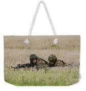 Belgian Paratroopers On Guard Weekender Tote Bag