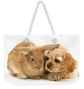 Cocker Spaniel And Rabbit Weekender Tote Bag