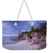 Georgian Bay Cliffs At Sunset Weekender Tote Bag