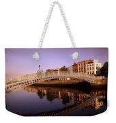 Hapenny Bridge, River Liffey, Dublin Weekender Tote Bag