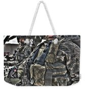 Hdr Image Of A Pilot Sitting Weekender Tote Bag