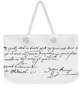 John Knox (1505-1572) Weekender Tote Bag
