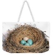 Robins Nest And Cowbird Egg Weekender Tote Bag