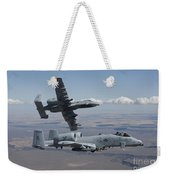 Two A-10 Thunderbolts Fly Weekender Tote Bag