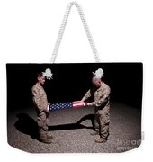 U.s. Marines Fold The American Flag Weekender Tote Bag