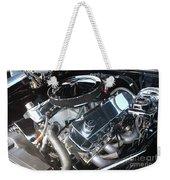 67 Black Camaro Ss 396 Engine-8033 Weekender Tote Bag