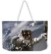 Astronaut Participates Weekender Tote Bag by Stocktrek Images