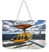 A Bell 407 Utility Helicopter Weekender Tote Bag