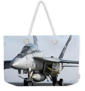An Fa-18f Super Hornet During Flight Weekender Tote Bag