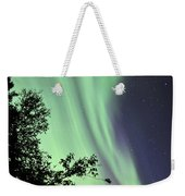 Aurora Borealis Above The Trees Weekender Tote Bag