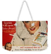 Chesterfield Cigarette Ad Weekender Tote Bag