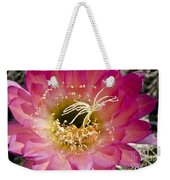 Dark Pink Cactus Flower Weekender Tote Bag