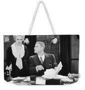 Silent Film Still: Offices Weekender Tote Bag