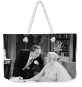 Silent Film Still: Wedding Weekender Tote Bag