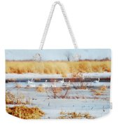 7 Swans Swimming  Weekender Tote Bag