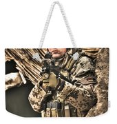 Hdr Image Of A German Army Soldier Weekender Tote Bag