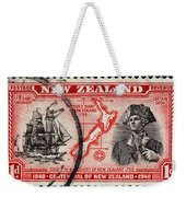 old New Zealand postage stamp Weekender Tote Bag