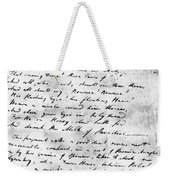 Samuel Taylor Coleridge Weekender Tote Bag