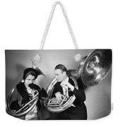 Silent Film Still: Music Weekender Tote Bag by Granger