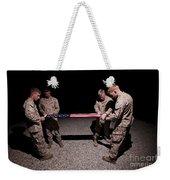 U.s. Marines Fold The American Flag Weekender Tote Bag