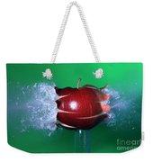 Bullet Hitting An Apple Weekender Tote Bag