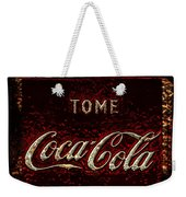 Coca Cola Classic Vintage Rusty Sign Weekender Tote Bag