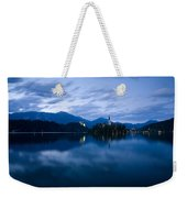 Dusk Over Lake Bled Weekender Tote Bag