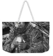 Hdr Image Of A German Army Soldier Weekender Tote Bag