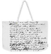 Samuel Taylor Coleridge Weekender Tote Bag
