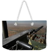 A .50 Caliber Machine Gun Points Weekender Tote Bag by Stocktrek Images