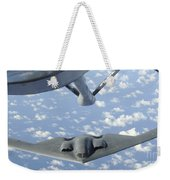 A B-2 Spirit Approaches The Refueling Weekender Tote Bag by Stocktrek Images