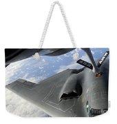A B-2 Spirit Receives Fuel Weekender Tote Bag