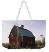 A Barn On A Farm In Nebraka Weekender Tote Bag