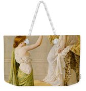 A Basket Of Roses - Grecian Girls Weekender Tote Bag by Henry Thomas Schaefer